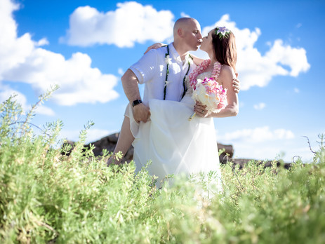 Wedding at Secret Beach Oahu Hawaii