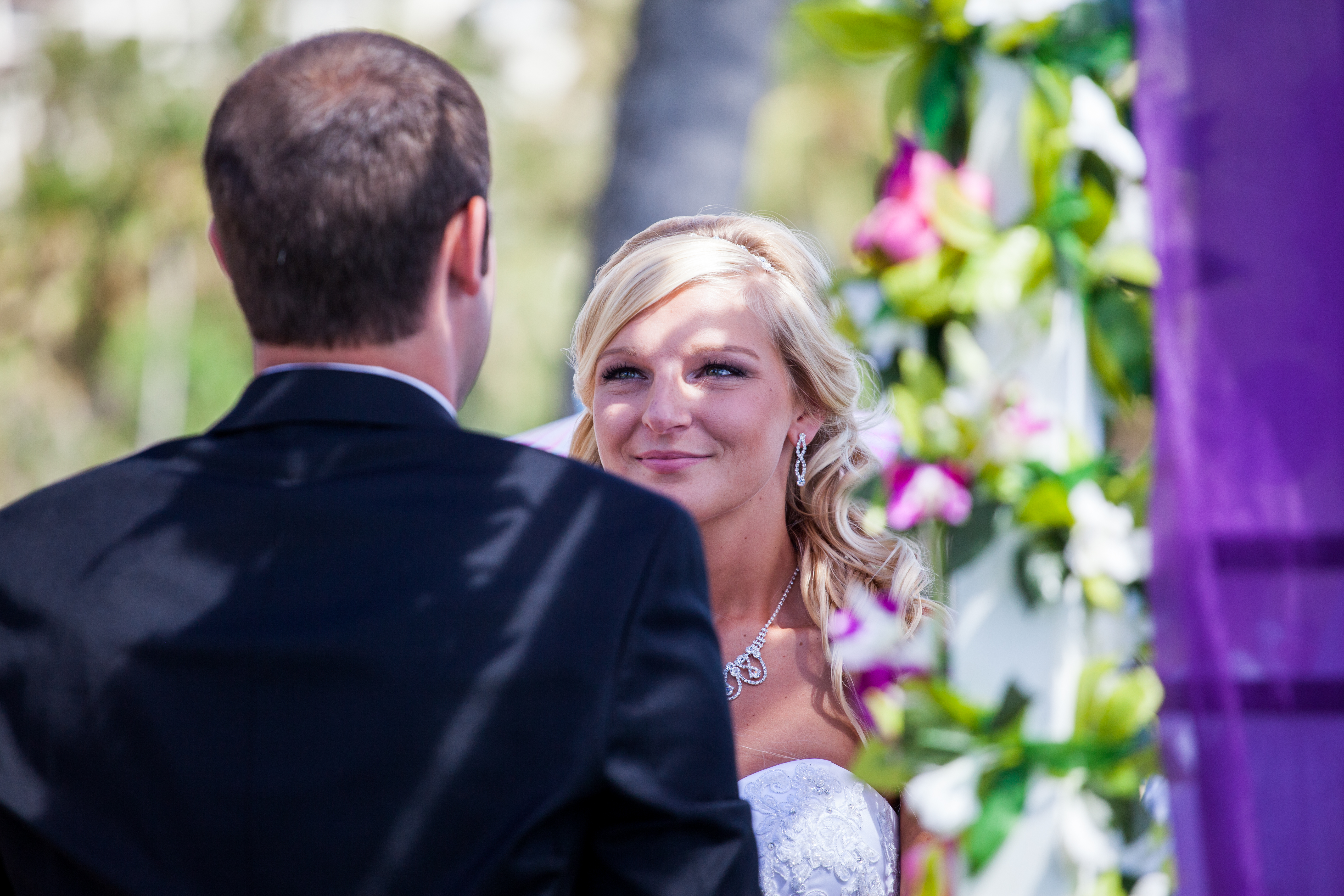 flowers with white wedding Arch 28