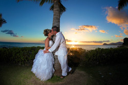 Sunset hawaii Wedding Picture -3
