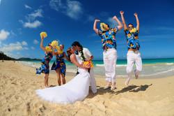 Hawaii beach wedding - lotus car
