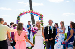 flowers with white wedding Arch 45