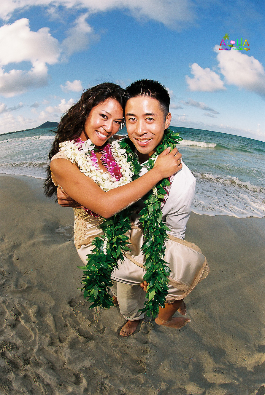 Beach wedding in Kailua-57