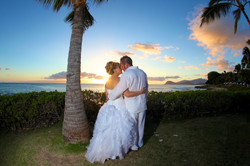 Sunset hawaii Wedding Picture -2