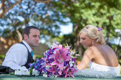 Wedding in Hawaii sand ceremony 14