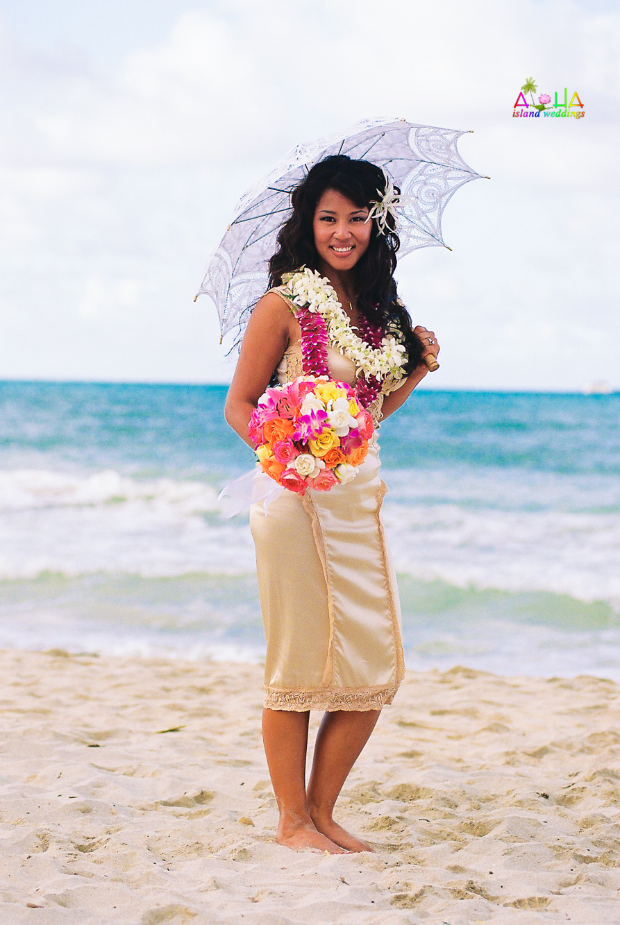 Beach wedding in Kailua-1