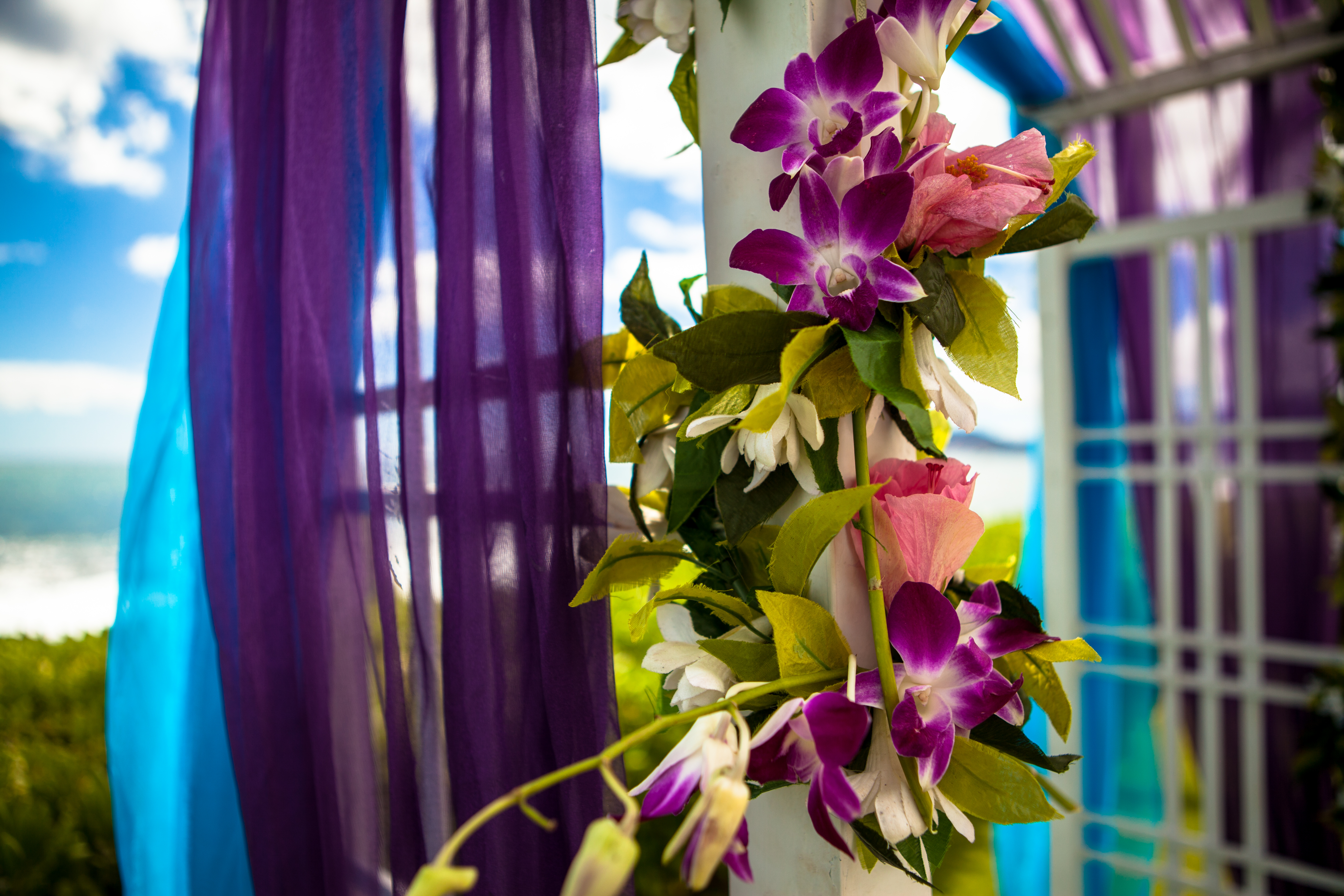 flowers with white wedding Arch  4