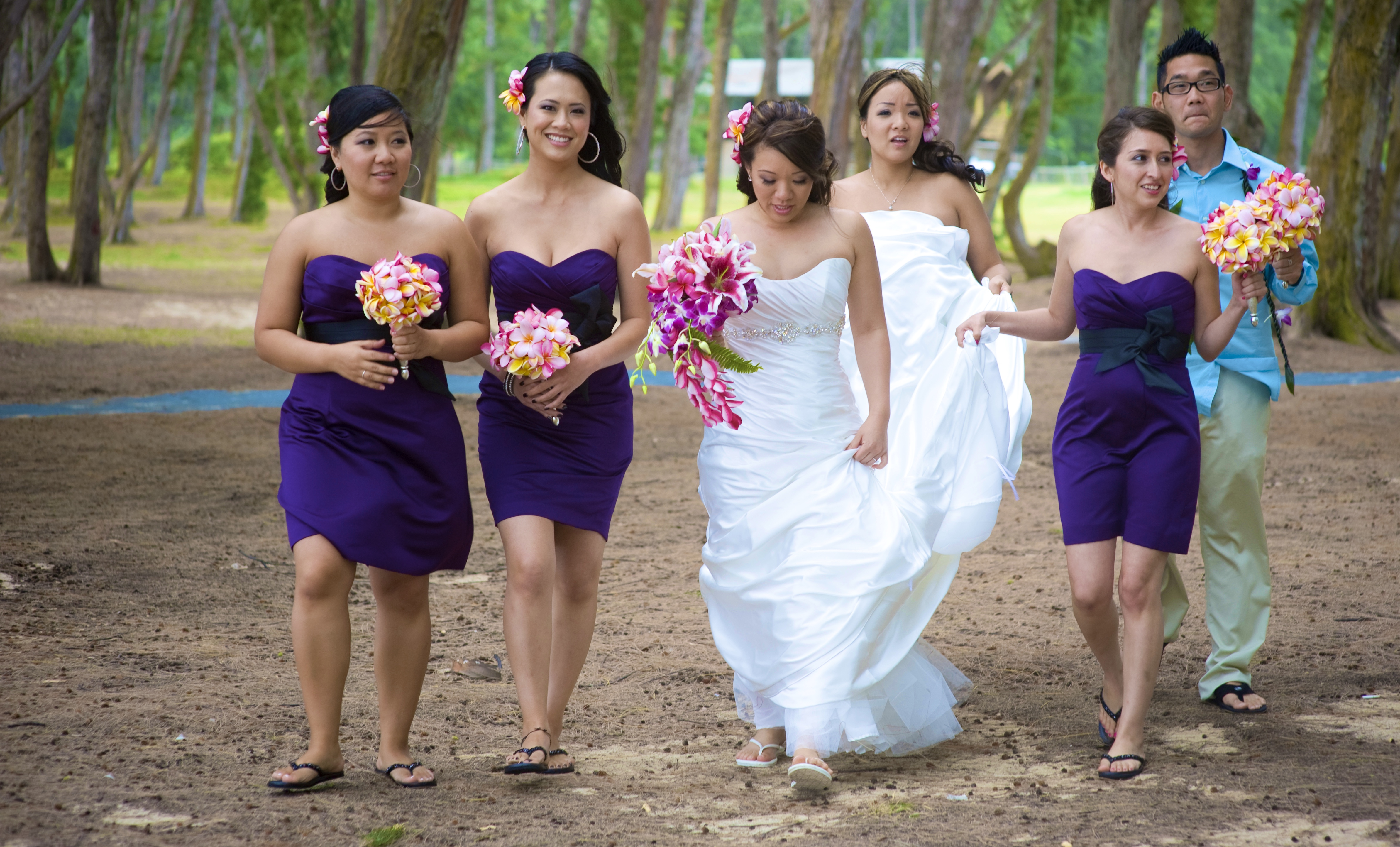 Hawaii Bridal party