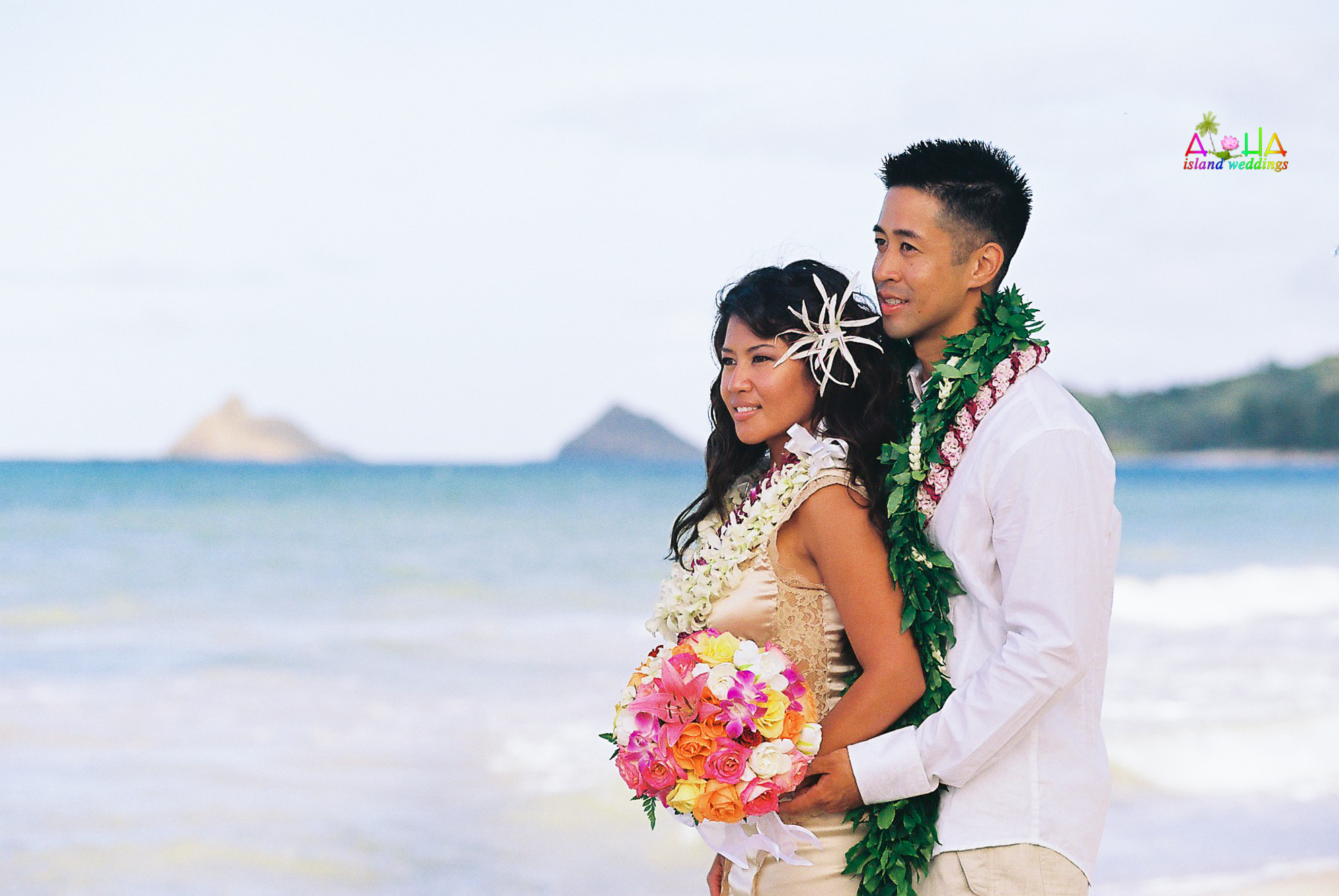 Beach wedding in Kailua-71