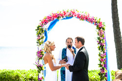 flowers with white wedding Arch 17