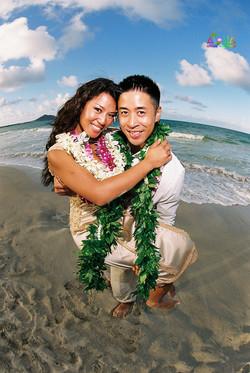 Beach wedding in Kailua-60