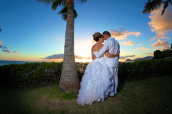 Sunset hawaii Wedding Picture -0