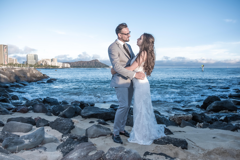 Magic island Hawaii beach wedding -73
