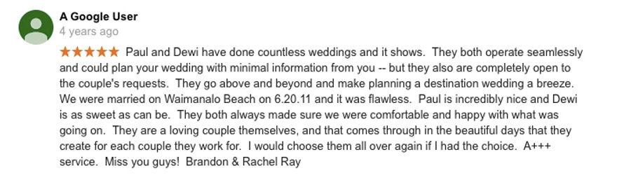 Hawaii Wedding review 34