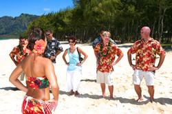 Hawaiian hula dancer with Ukulele 11