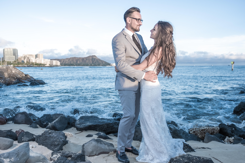 Magic island Hawaii beach wedding -74