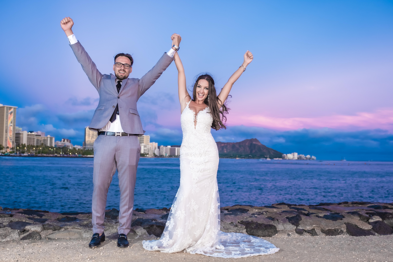 Magic island Hawaii beach wedding -1