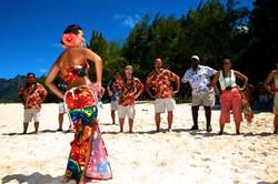 Hawaiian hula dancer with Ukulele 9