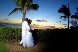 Sunset hawaii Wedding Picture -20