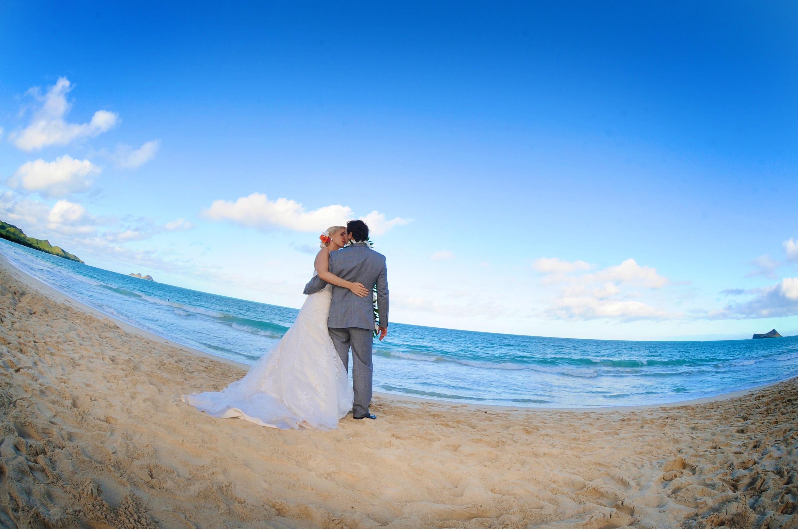 wedding In Hawaii with beautifull bride-0