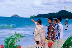 Beach wedding in Kailua-88