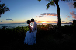 Sunset hawaii Wedding Picture -15
