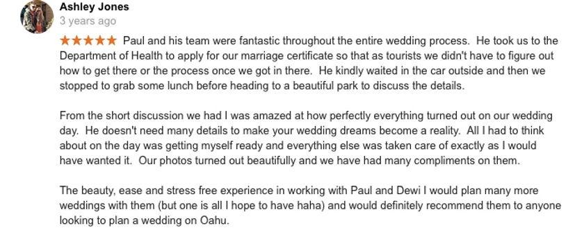 Hawaii Wedding review 12
