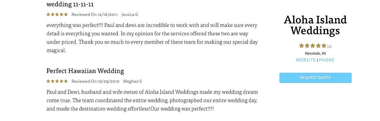 Hawaii Wedding review 22
