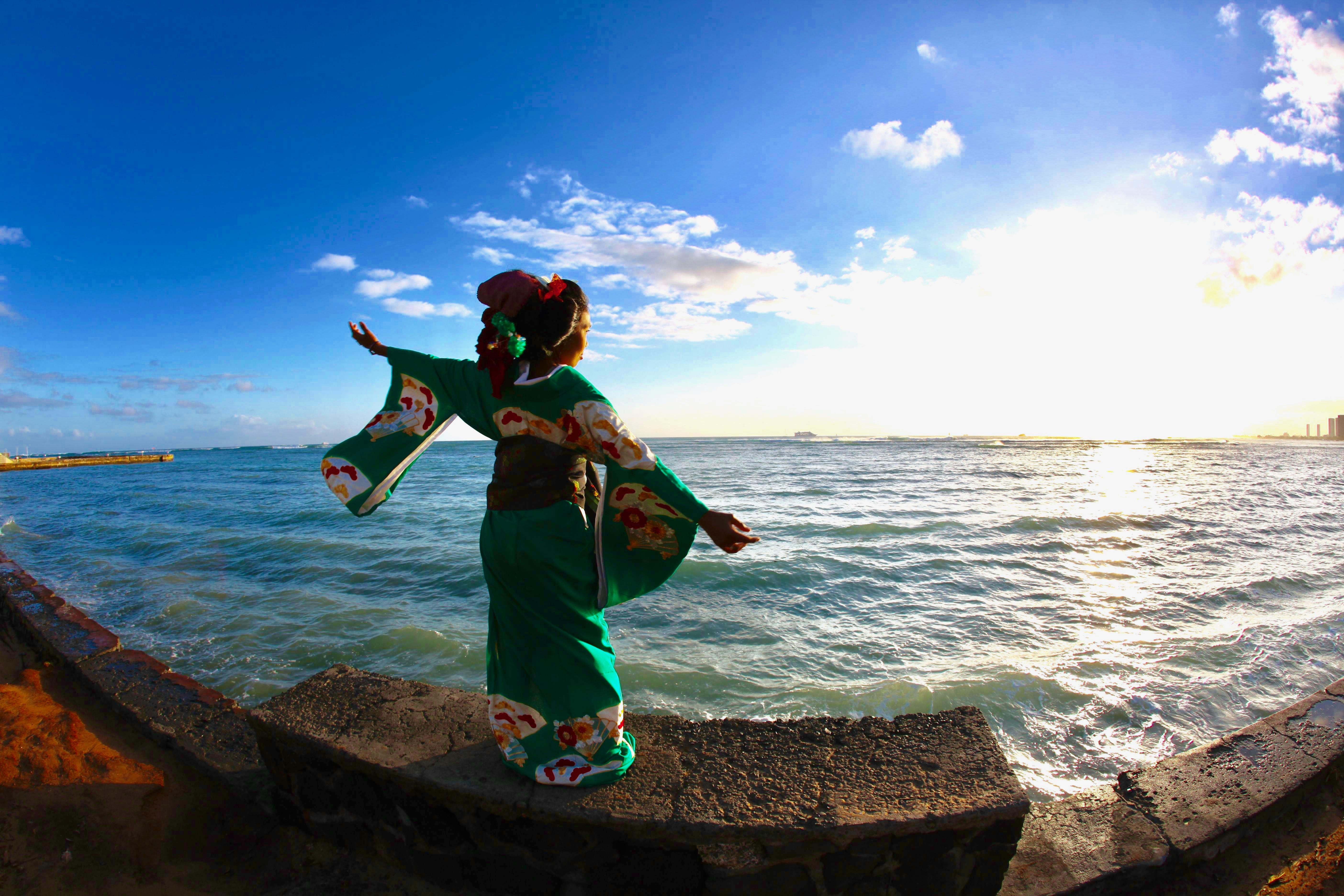 Dancing kimono
