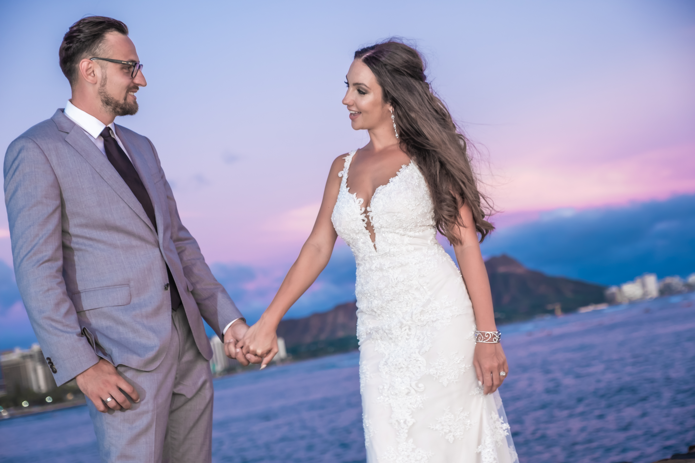 Magic island Hawaii beach wedding -12