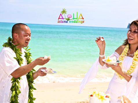 The battle is to begin Hawaiian wedding