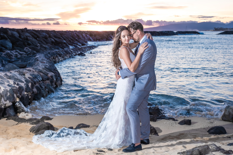 Magic island Hawaii beach wedding -23