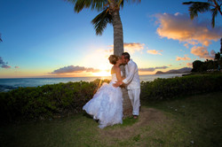 Sunset hawaii Wedding Picture -4