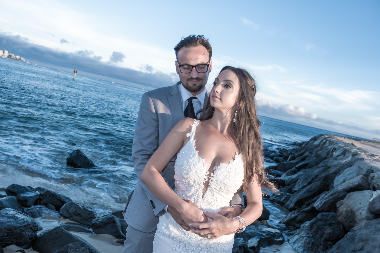 Magic island Hawaii beach wedding -69