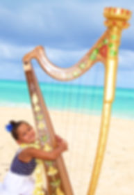 Harpist in Hawaii
