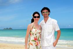 Hawaii beach wedding - lotus car 26