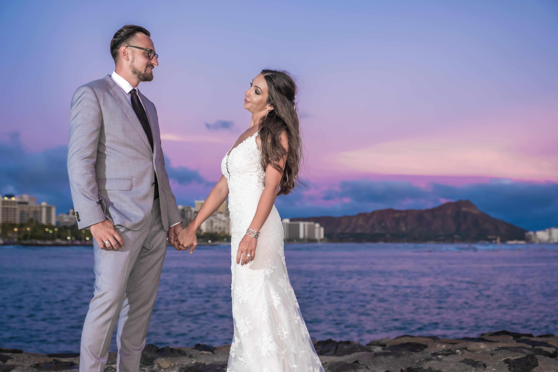 Magic island Hawaii beach wedding -13