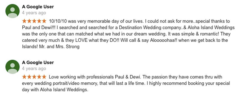 Hawaii Wedding review 36