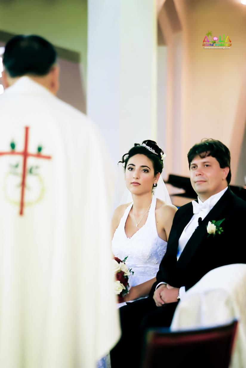Hawaiian Church Wedding on Oahu-63