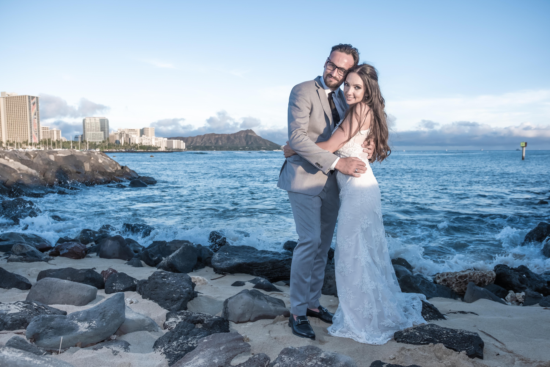 Magic island Hawaii beach wedding -71