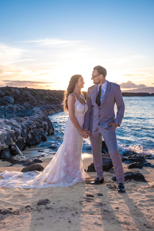 Magic island Hawaii beach wedding -55