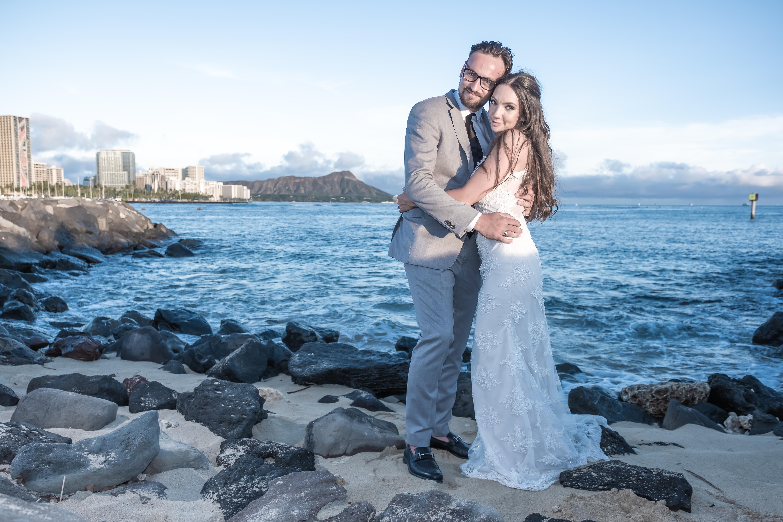 Magic island Hawaii beach wedding -70