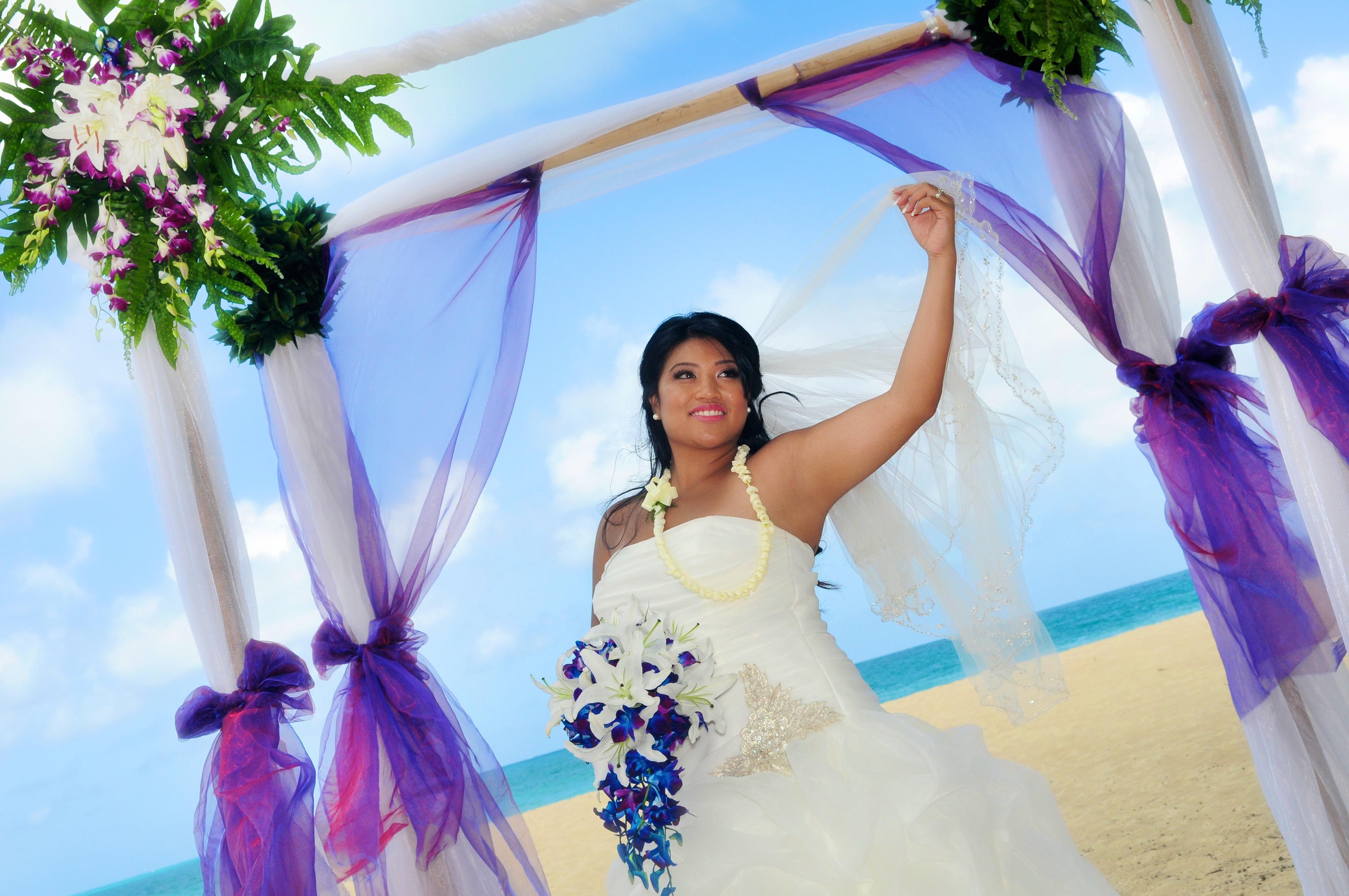 Orchid wedding in Hawaii7