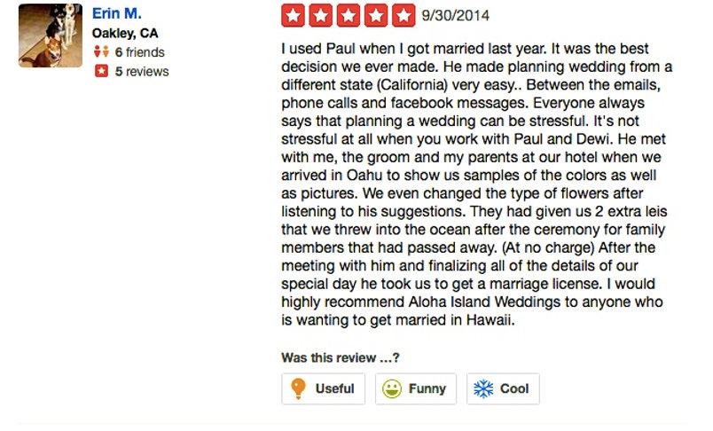 Wedding in Hawaii reviews9