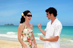 Hawaii beach wedding - lotus car 28