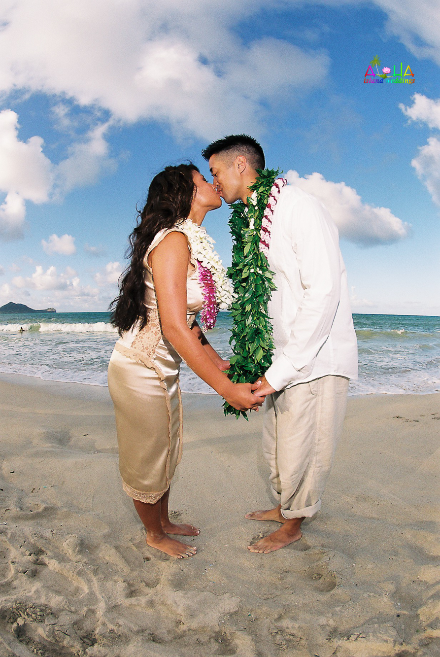 Beach wedding in Kailua-59