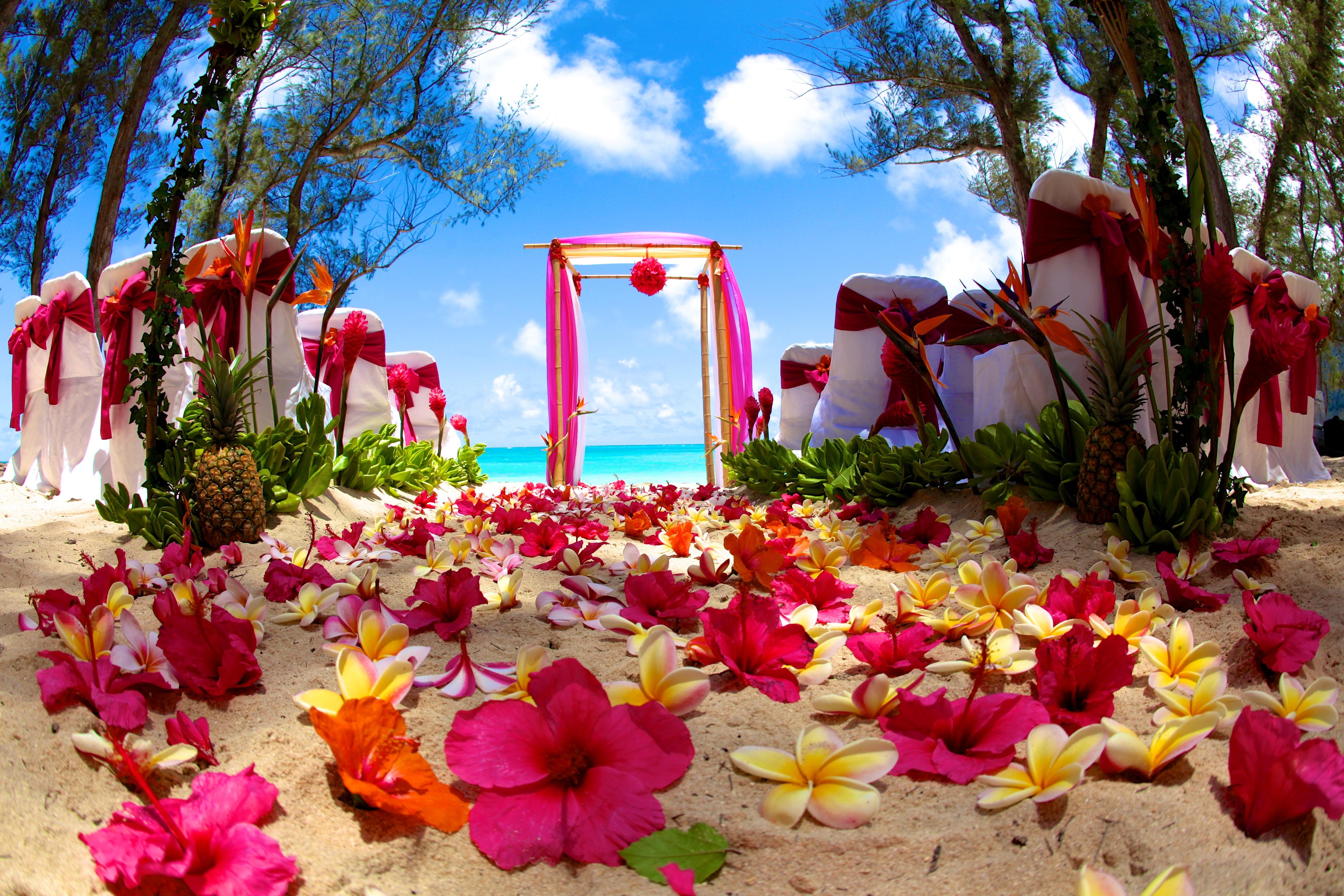 Hawaii Wedding Bamboo Arch 6