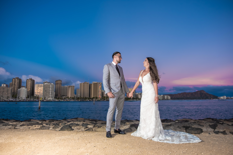Magic island Hawaii beach wedding -14