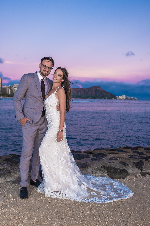 Magic island Hawaii beach wedding -21