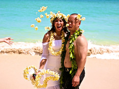 plumeria flowers throw at the bride.jpg