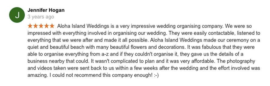 Hawaii Wedding review 15